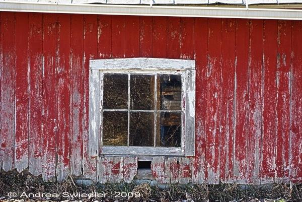 Barn window, Ridge Rd